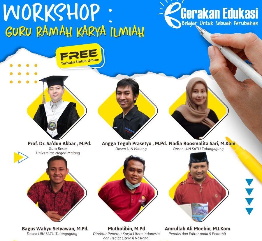 Beberapa pemateri yang akan mengisi acara workshop Guru Ramah Karya Ilmiah/tugu jatim