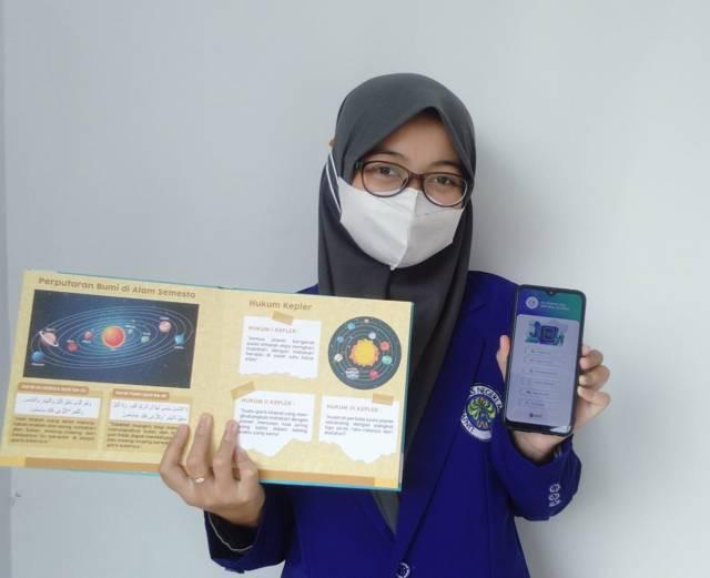 Inilah tampilan AR buku Qurraci jika dibuka lewat smartphone. (Foto: Dokumen/Tugu Jatim)
