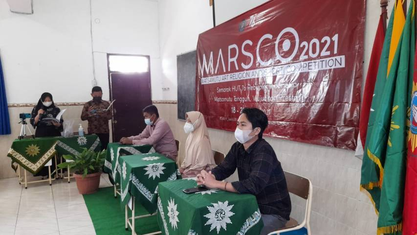 MTs Muhammadiyah 1 Malang atau Matsamutu menggelar MARSCO untuk memperingati HUT RI ke-76 dan menjaring bakat para santri pada Rabu (18/08/2021).(Foto: Dokumen/Tugu Jatim)