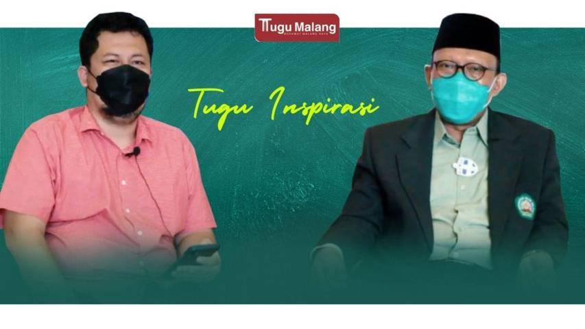 Rektor Unisma Prof Dr H. Maskuri Bakri MSi bersama CEO Tugu Media Group Irham Thoriq dalam acara Tugu Inspirasi. (Foto: Rubianto/Tugu Jatim)
