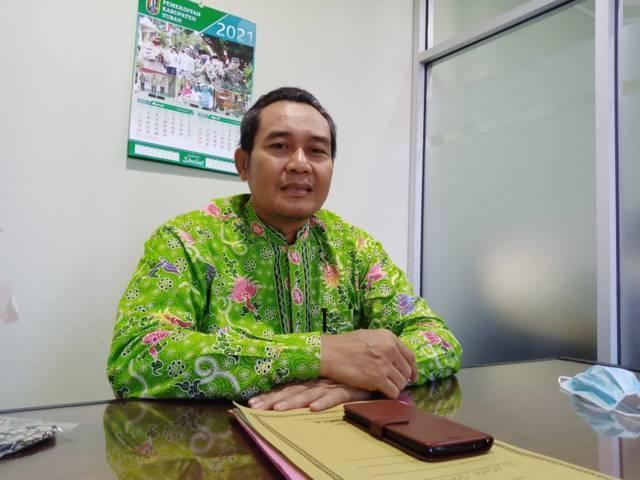Sekretaris Komite Olahraga Nasional Indonesia (KONI) Tuban Zaenal Maftuhien saat ditemui pada 8 Juni 2021 (Foto: Rochim/Tugu Jatim)