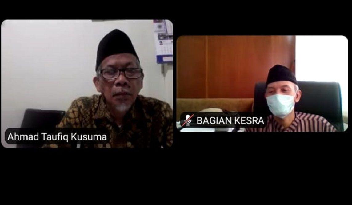 Ahmad Taufiq Kusuma menyampaikan pandangannya soal draf Perwali Kota Malang tentang pendirian rumah ibadah/tugu jatim