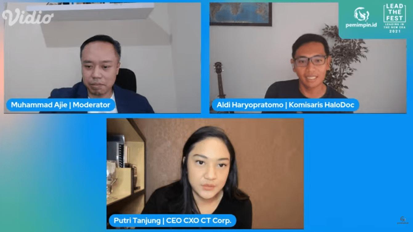 Seri ke-1 Lead The Fest hari kedua menghadirkan Putri Tanjung, CEO dan CXO CT Corp dan Aldi Haryo Pratomo, komisaris Halodoc/tugu jatim