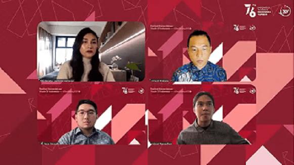 Rangkaian acara Youth of Indonesia dalam festival kemerdekaan/tugu jatim