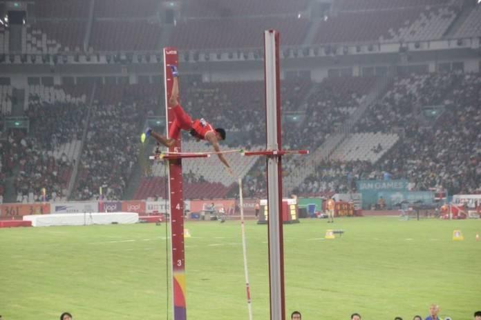 Teuku Tegar Abadi saat berlaga di Asian Games XVIII Indonesia (31/08/2018) (Foto: Konituban.com/Tugu Jatim)