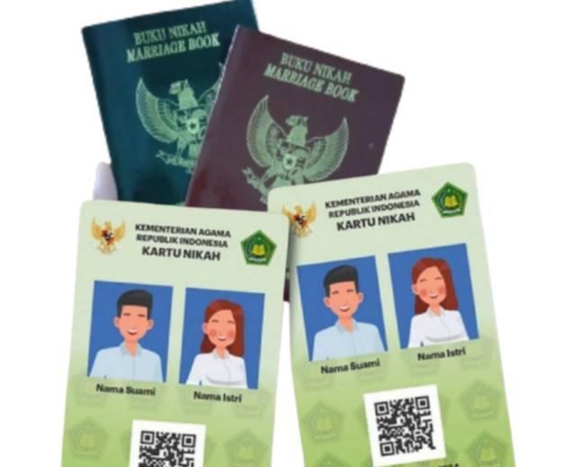 Ilustrasi kartu nikah fisik yang akan diganti kartu nikah digital. (Foto: Mila Arinda/Tugu Jatim)