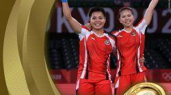 Apriayani Rahayu dan Greysia Poli berhasil meraih medali emas di Olimpiade Tokyo 2020/tugu jatim