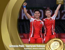 Cetak Sejarah Dunia, Ganda Putri Bulu Tangkis Indonesia Raih Emas Di Olimpiade Tokyo 2020