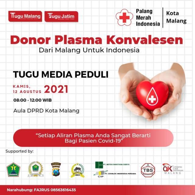 Program Bank Plasma Tugu Media Group. (Foto: Dokumen) bank plasma, donor plasma, bank plasma konvalesen, tugu jatim