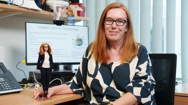 Profesor Dame Sarah Gilbert, pengembang vaksin AstraZaneca yang kemudian melepas hak paten atas temuannya itu/tugu jatim