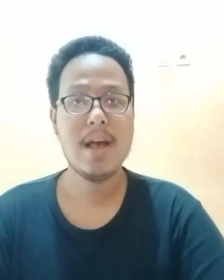 Terduga pelaku fetish di Kota Malang yang muncul lewat video permintaan maaf. (Foto: Dokumen/Tugu Jatim)