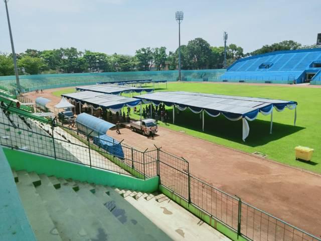 Vaksinasi massal bakal digelar di Stadion Gajayana Kota Malang, pada Jumat (06/08/2021). (Foto: Rizal Adhi/Tugu Jatim)