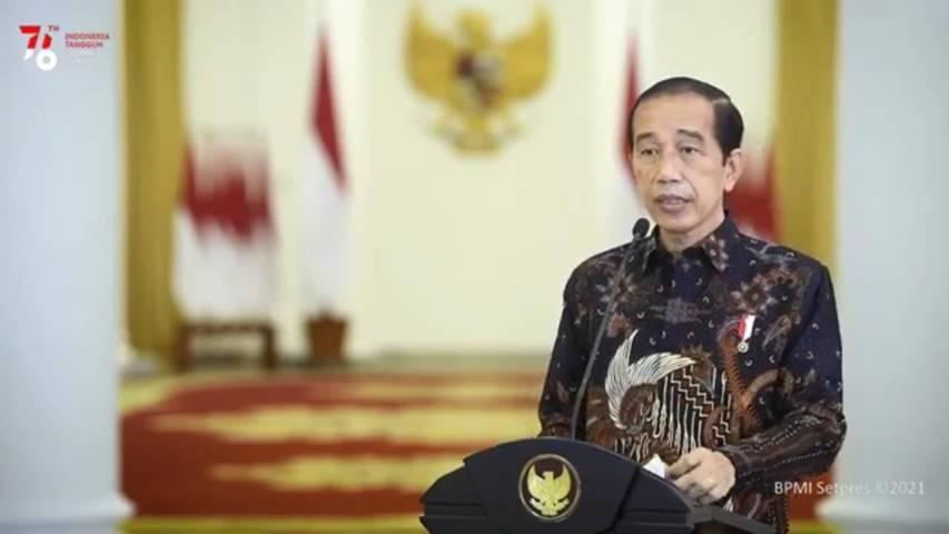 Presiden Jokowi mengumumkan perpanjangan PPKM Level 4 hingga 9 Agustus 2021. (Foto: YouTube/Sekretariat Presiden/Tugu Jatim)