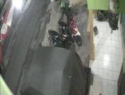 Motor Warga Buring Malang Digasak Pencuri Berhelm Ojol