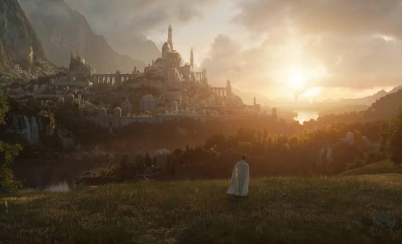 Salah satu foto dari episode pertama serial Lord of the Rings yang dirilis oleh Amazon Studios. (Foto: Amazon Studios) tugu jatim