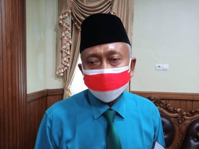 Ketua DPRD Tuban, HM. Miyadi saat ditemui di ruangannya usai kegiatan mendengarkan pidato kenegaraan dalam rangka HUT RI ke-76, Senin (16/8/2021). (Foto: Moch Abdurrochim/Tugu Jatim)
