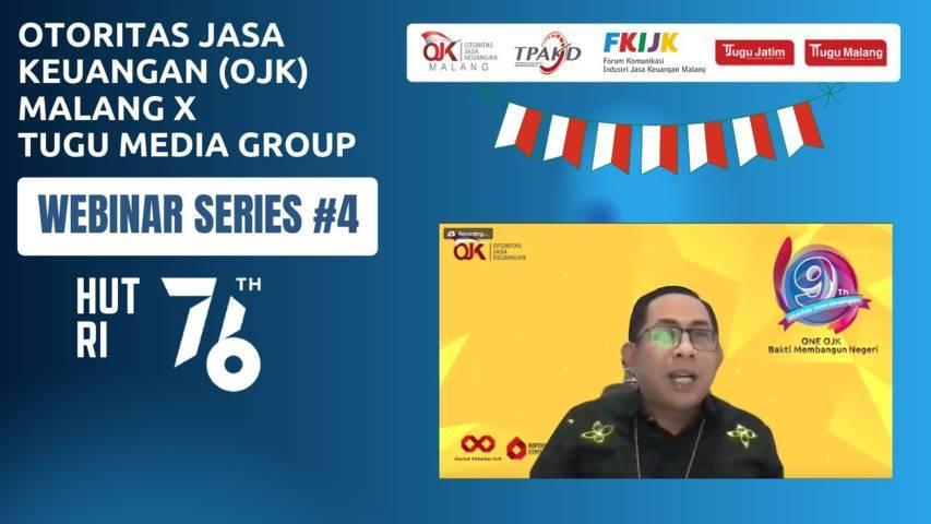Kepala Otoritas Jasa Keuangan (OJK) Malang, Sugiarto Kasmuri dalam webinar series #4 OJK Malang X Tugu Media Group pada Rabu (4/8/2021). (Foto: Dokumen/Tugu Malang/Tugu Jatim)