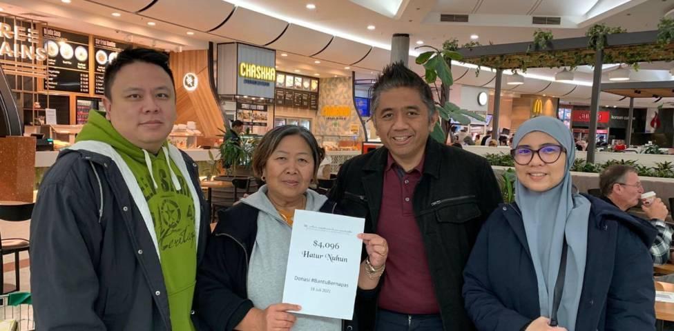 Program Bantu Bernapas yang merupakan aksi solidaritas sesama warga Indonesia di Australia ini berhasil kumpulkan dana hingga Rp 70 juta. (Foto: Dokumen) tugu jatim bantu bernapas