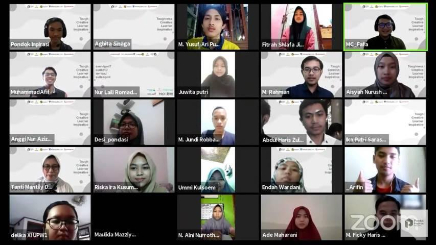 """Webinar Series dengan tema """"Pendidikan dan Dunia Kerja"""" yang digelar oleh Pondok Inspirasi via Zoom, Sabtu (7/8/2021). (Foto: Dokumen) tugu jatim"""