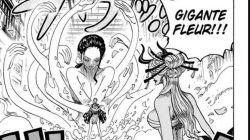 Potongan manga One Piece yang menunjukkan pertarungan antara Robin melawan Black Maria di chapter 1020 lalu. (Foto: Eiichiro Oda/Weekly Shonen Jump/Manga Plus) one piece 1021 tugu jatim