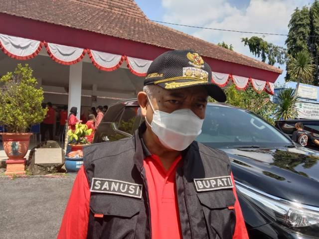 Bupati Malang, Sanusi. (Foto: M Sholeh/Tugu Malang/Tugu Jatim)