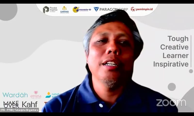Guru Besar Intitut Teknologi Bandung (ITB) bidang Mekanika Komputasional, Prof. Dr. Ir. Tatacipta Dirgantara, MT saat menghadiri webinar series yang digelar Pondok Inspirasi, Sabtu (7/8/2021). (Foto: Dokumen) tugu jatim