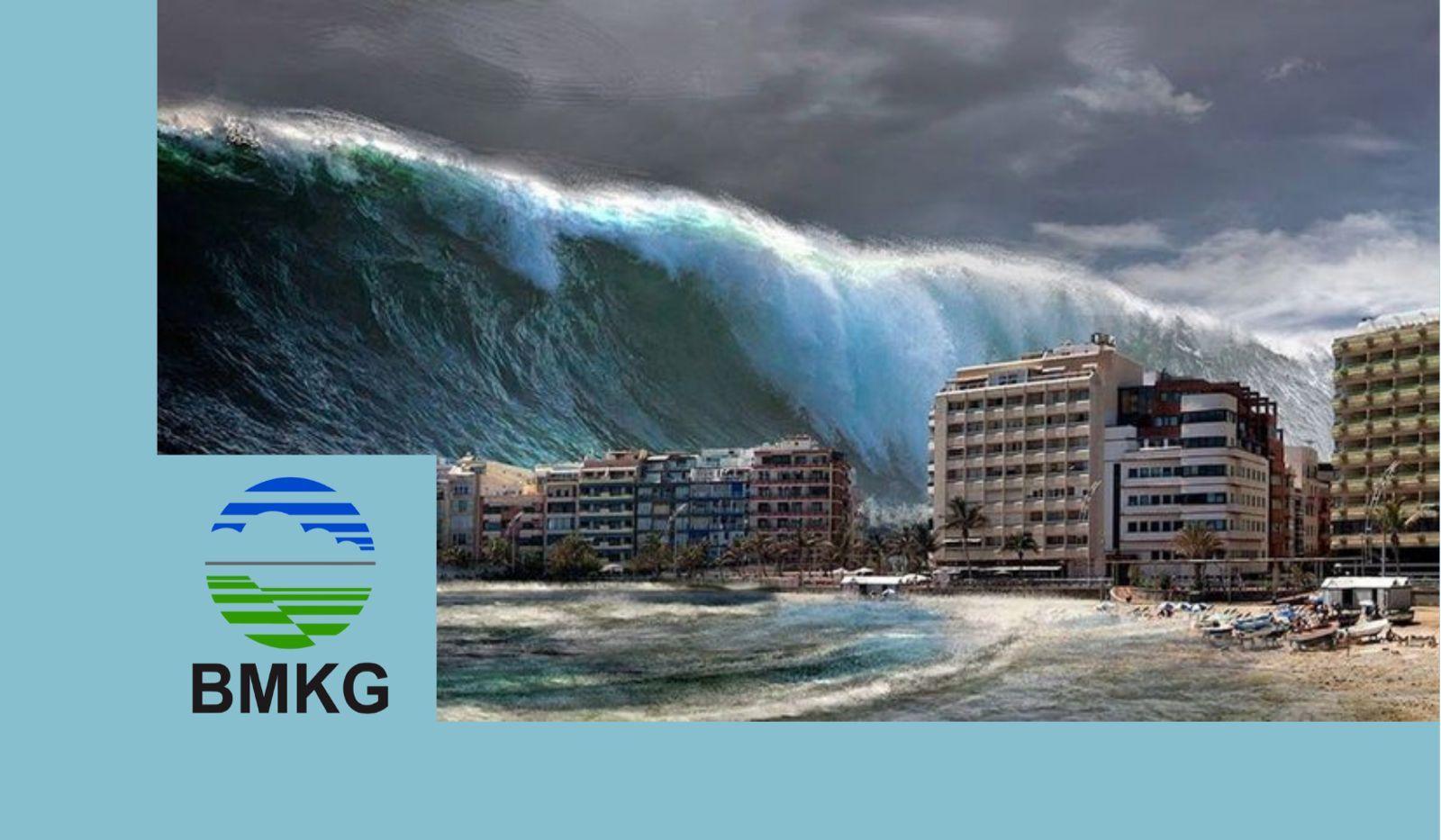 Ilustrasi gelombang tinggi/tugu jatim