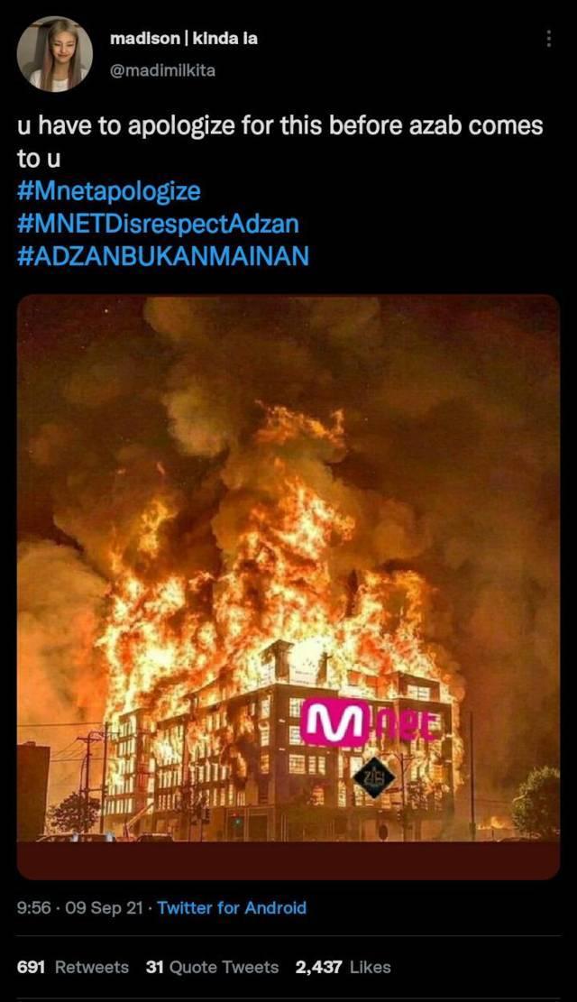 Ungkapan rasa kecewa, warganet bikin meme untuk Mnet. (Foto: Twitter @madimilkita/Tugu Jatim)