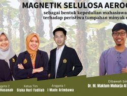 Magnetik Aerogel, Alat Penyerap Minyak di Laut Karya Mahasiswa Universitas Jember