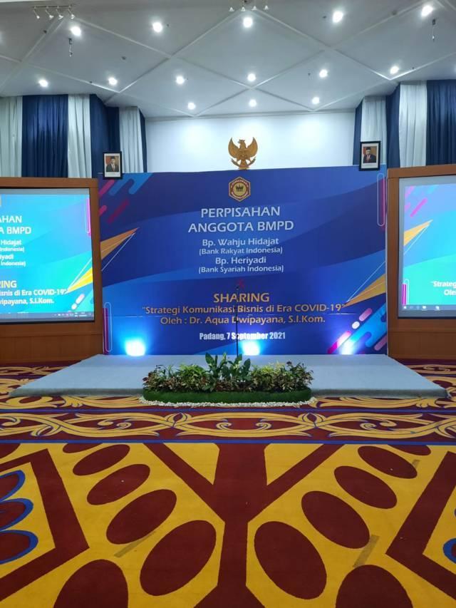 Acara Sharing Komunikasi dan Motivasi yang digelas Badan Musyawarah Perbankan Daerah (BMPD) Sumbar. (Foto: Dokumen/Tugu Jatim)