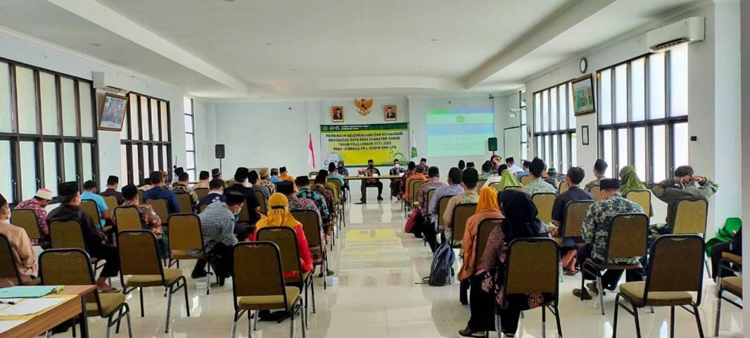 Suasana Kegiatan Pembinaan Kelembagaan dan Sosialisasi Penguatan Data Emis pada Kamis (23/09/2021).(Foto: Humas Kemenag Tuban/Tugu Jatim)