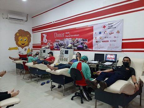 Kegiatan donor darah dan screening donor plasma konvelesen di UDD PMI Kota Malang