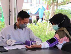 Rayakan HUT Ke-66 Lalu Lintas, Polres Batu Gelar Vaksinasi Massal untuk Tunawisma