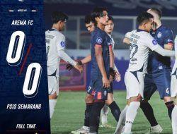 Tak Bertaring, Arema FC Tuai Hasil Imbang Lawan PSIS Semarang