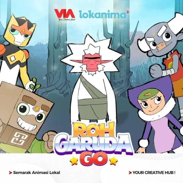 Poster film animasi anak berjudul Roh Garuda Go. (Foto: IG @kek.singhasari/Tugu Jatim)