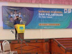 Hadiri Pelantikan PC PMII, Bupati Lindra Ajak Pemuda Bangun Kabupaten Tuban