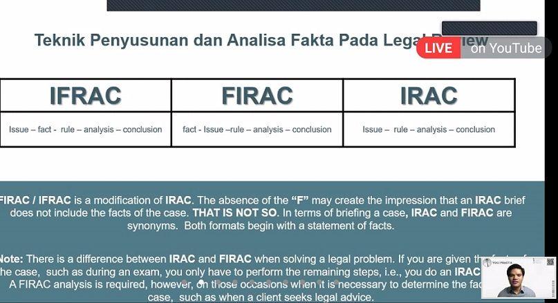 Salah satu slide materi kelas menulis legal review oleh Dema Fasih UIN SATU Tulungagung pada Sabtu (28/8/2021)/tugu jatim