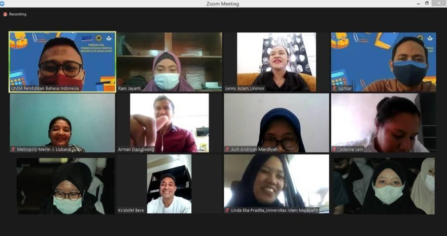 Pembelajaran jarak jauh yang dilakukan UNIM Mojokerto dan Unimor NTT. (Foto: Dokumen/Tugu Jatim)