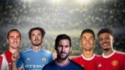 Beberapa transfer pemain paling mengejutkan di bursa transfer musim panas 2021/2022. Salah satunya Cristiano Ronaldo dari Juventus ke Manchester United. (Foto-foto: Dok) tugu jatim