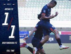 Hasil Akhir Liga 1 Arema FC vs Bhayangkara FC: Imbang 1-1