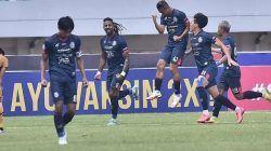 Selebrasi Dendi Santoso saat melawan Bhayangkara FC/tugu jatim