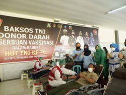 HUT ke-76 TNI, Korem 162/WB Gelar Serbuan Vaksin hingga Donor Darah