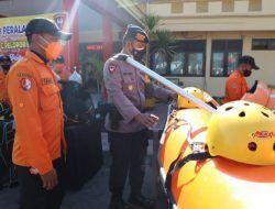 Cek Kelengkapan Peralatan SAR, Brimob dan BPBD Bojonegoro Siap Tanggulangi Bencana