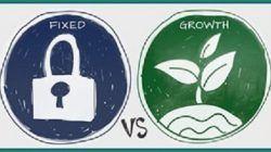 Ilustrasi growth mindset vs fixed mindset