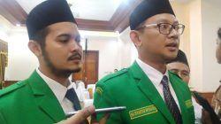 Ketua PW Ansor Jatim M. Syafiq Syauqi (kanan) dan Wakil Ketua Mahdi El Kherid dalam sebuah kesempatan./tugu jatim