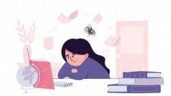 Ilustrasi seorang remaja sedang berusaha menghafal materi pelajaran/tugu jatim