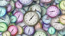 Ilustrasi jam untuk membagi waktu./tugu malang