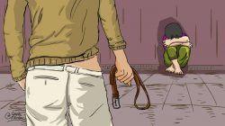 Ilustrasi penganiayaan anak dan KDRT. (Ilustrasi: Gigih Mazda/Tugu Jatim) penganiayaan balita