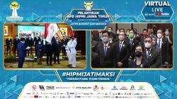 Pelantikan Badan Pengurus Daerah (BPD) Hipmi Jatim periode tahun 2021-2024 berlangsung di Gedung Grahadi Surabaya, Rabu (27/10/2021). (Foto: YouTube Hipmi Jatim/Tugu Jatim)