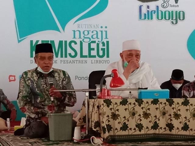 Ketua Umum Pengurus Besar Nahdlatul Ulama (PBNU) KH Said Aqil mengunjungi Pondok Pesantren (Ponpes) Lirboyo, Kediri, Jawa Timur pada Kamis (7/10/2021) pagi. (Foto: Rino Hayyu/Tugu Jatim)